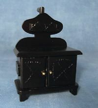 Doll House 1/12Th Scale Old Fashioned Black Stove (Df122 )