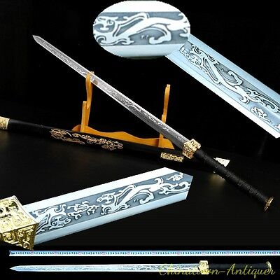 Han Jian Sword traditional Hand Forged High manganese steel blade sharp #3961