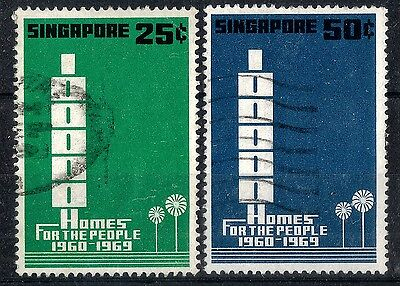 Singapore. 1969.  Homes for the People.  SG119-120.  Used.