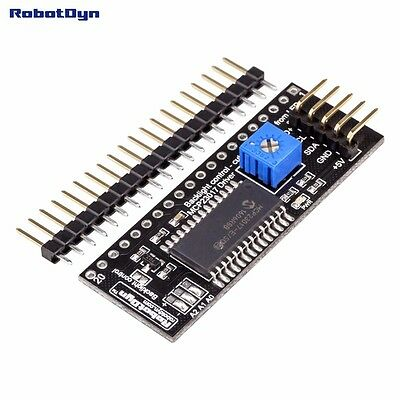 Graphics LCD 12864 adaptor to I2C Driver MCP for interactive work with Arduino A