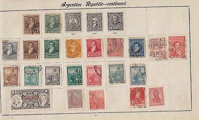 Ls151 Extremely Early Stamps From Argentina On Old Album Page