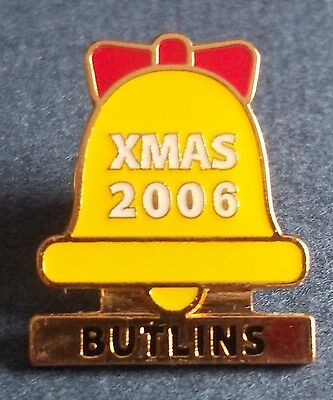 Butlins Xmas 2006 Butterfly Clasp Badge. No makers name