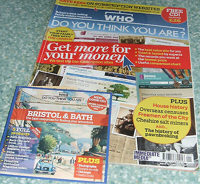 Who Do You Think You Are Magazine with Bristol and Bath Ancestors C.D