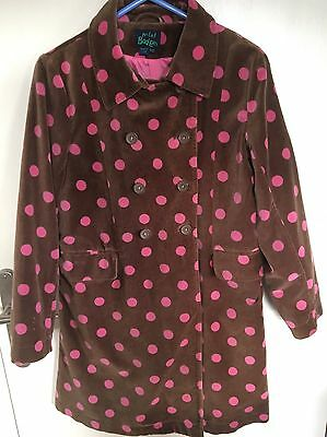 Mini Boden girls 9-10 Velvet Coat