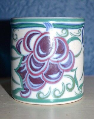 Deco Poole Pottery Tr Grapes Pattern Small Pot Base