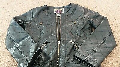 girls faux leather jacket age 9 star by julien mcdonald