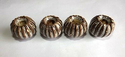 Vintage Decorative Lot # 4 Muskmelon Shape Ceramic Door Knob Drawer Knob