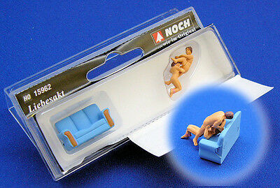 Noch Lovers in Action with Sofa 15962 HO Scale (suit OO Also)