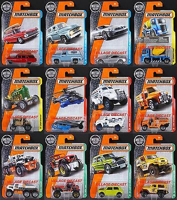2017 Matchbox Wave A - All 12 Vehicles/Chevy®/Ford/Austin/Toyota/Mercedes/MOC