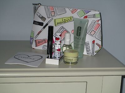 NEW! CLINIQUE Ladies Gift Set - 7 items Make Up & Skincare products