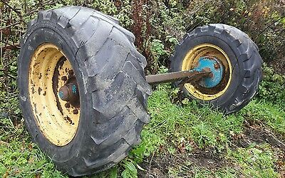 Trailer axle braked to tow with Tractor