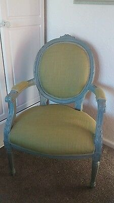 French louis armchair shabby chic