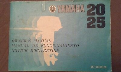 YAMAHA  2025 (20A/25A) owner's manual, in English, French & Spanish