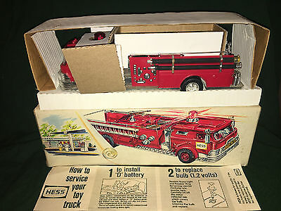 1970 Hess Fire Truck,light works&spins,rare,vintage,antique,collectible,MarxToys