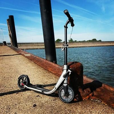 Adults/Kids Titanium Town Commute Easy Fold & Kick Scooter-Cycle/Bicycle brake