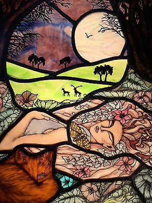 Hand Painted A Midsummer Nights Dream  Panel By Amberdragons stained glass