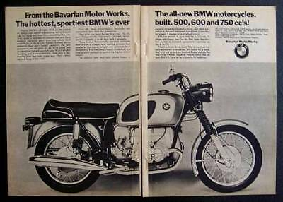 1970 BMW R75/5 *Hottest, Sportiest* 750cc Motorcycle original Full page Ad