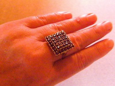 Antik aus 70ern massiver Granat Silber Ring RG 63 / 20 Antique Garnet Ring RAR