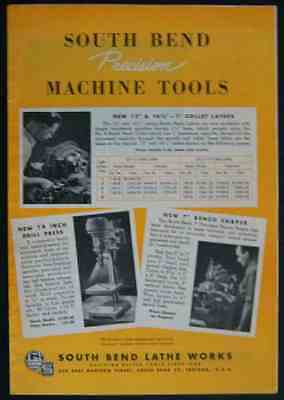 1948 South Bend Machine Tool Catalog magazine section