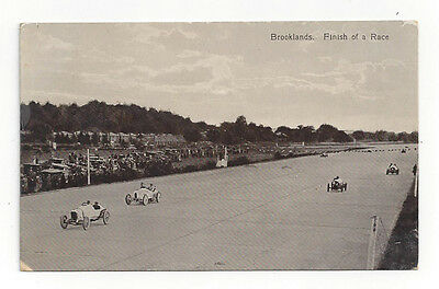 "Original Broooklands postcard ""Finish of a Race"" excellent condition"