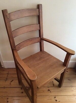 Large Heavy Solid oak carver chair. One Of A Pair