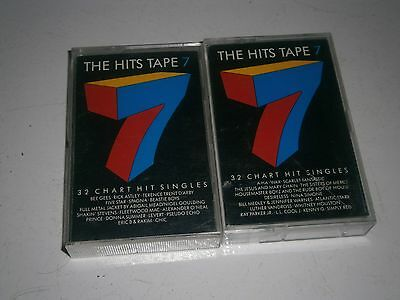 DOUBLE 2x CASSETTE TAPES THE HITS 7 TAPE (1987 MUSIC COMPILATION) -FREE POSTAGE