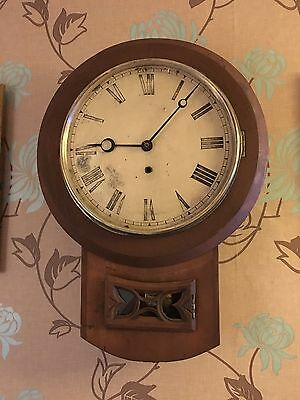 Old Drop Dial School / Station Wall Clock