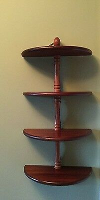 4 shelf wall-mounted display wooden unit - Unit 1 of 3 available