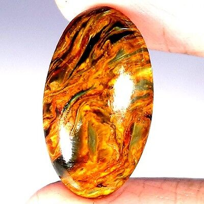 12.40Cts 100% NATURAL MARVELOUS GOLDEN PIETERSITE OVAL CABOCHON QUALITY GEMSTONE
