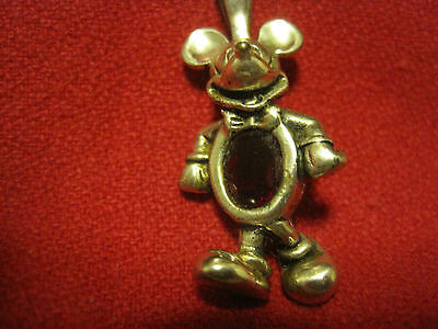 Disney MICKEY Mouse 925 Sterling Silver Pendant Charm Birthstone/RUBY RED