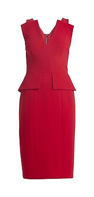 "BCBG Max Azria Red Peplum Cocktail Dress Size 4 ""Alena"""