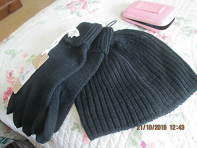 Hat And Glove Set--Mens