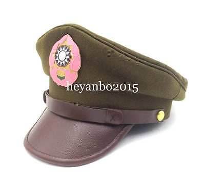 Ww2 Chinese Nationalist Forces Kmt Kuimingtang Army Service Cap Hat -Size  Xl