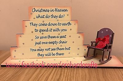 Christmas In Heaven Freestanding Remembrance Plaque Decoration