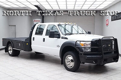 2011 Ford F-550  2011 Ford F550 Diesel 4x4 XL Flat Bed Hauler Extended Wheel Base