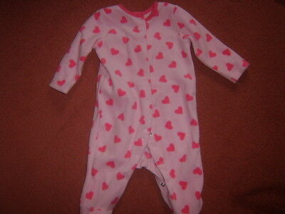 Baby girls pink all-in one sleepsuit, size 3-6 months