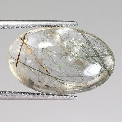 NATURAL AFRICA RUTILITE QUARTZ OVAL 9.18 Ct GEMSTONE