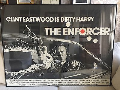 Clint Eastwood As Dirty Harry In The Enforecer, Original Movie Poster
