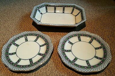 Losol Ware - Two Plates and Bowl
