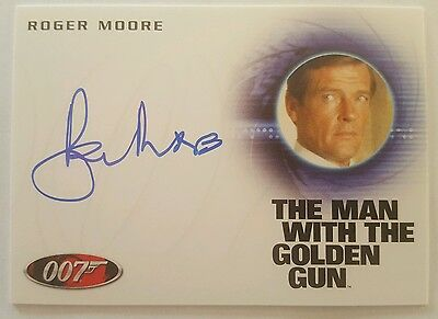 2016 James Bond Classics The Man With The Golden Gun A226 ROGER MOORE Autograph