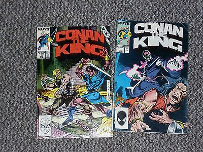Conan the King Issues 41 & 45 - 1980's Marvel