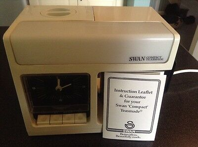 Vintage Swan Compact Teasmade Model 10883 With Instructions Leaflet