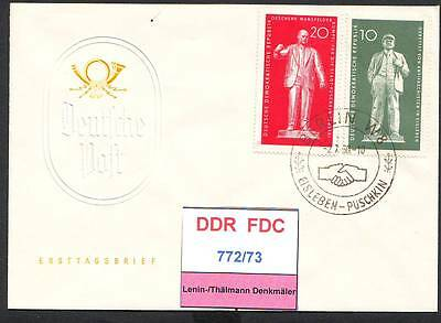 DDR-FDC 772/73, gestempelt, s. scan