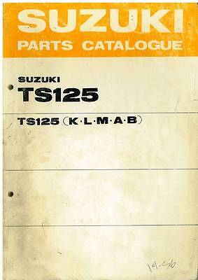 Suzuki Motorcycle Model Ts125 K L M A & B Spare Parts Manual - 1976