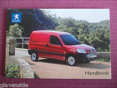 Peugeot Partner Van Owners Manual - Owners Guide - Handbook. (Jlh 14+)