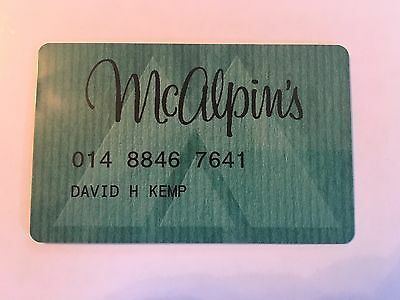 Vintage Retail Charge Credit Card M53 McAlpin's