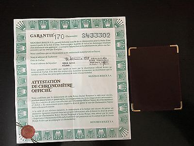 Rolex Certificate & Leather Wallet