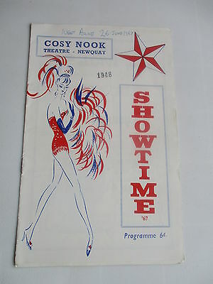 1967 Newquay Cornwall Showtime 67 Programme Cosy Nook Theatre