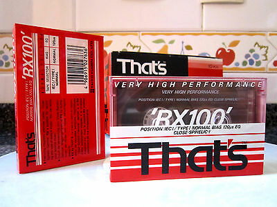 CASSETTE TAPE BLANK SEALED - 1x (one) THAT'S RX 100 [1990] audiotape TAIYO YUDEN