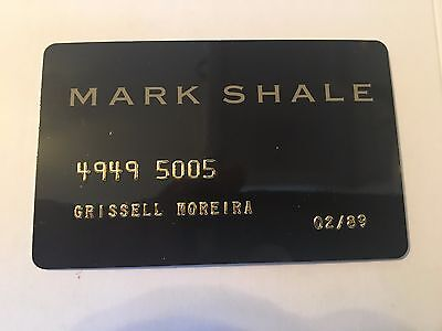 Vintage Retail Charge Credit Card M53 Mark Shale